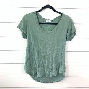Standard James Perse Green T-Shirt Size 2